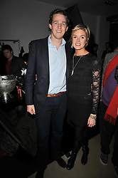 ISABELLA ANSTRUTHER-GOUGH-CALTHORPE and SAM LAWSON-JOHNSTON at a party to launch pop-up store Oxygen Boutique, 33 Duke of York Square, London SW3 on 8th February 2011.