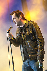 "Comedian Jim Jefferies plays the Goldenvoice Arena. Sunday, Rockness 2013, the annual music festival which took place in Scotland at Clune Farm, Dores, on the banks of Loch Ness, near Inverness in the Scottish Highlands. The festival is known as ""the most beautiful festival in the world""."