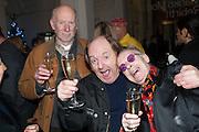 RICHARD WILSON; ANTONY FAWCETT, Mariko Mori opening, Royal Academy Burlington Gardens Gallery. London. 11 December 2012.