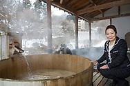 Mrs Izumi Watanabe, the director of Sansuiso Tsuchiyu Spa.  <br /> <br /> Tsuchiyu Onsen<br /> <br /> Fotograf: Christina Sjögren<br /> Copyright 2018, All Rights Reserved