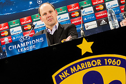 Ante Simundza, head coach of NK Maribor  during press conference after the football match between NK Maribor, SLO  and FC Schalke 04, GER in Group G of Group Stage of UEFA Champions League 2014/15, on December 9, 2014 in Stadium Ljudski vrt, Maribor, Slovenia. Photo by Vid Ponikvar / Sportida