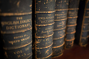 Antiquarian copies of the English Dialect Dictionary line the shelves in the Lee Library of the British Academy, on 17th September 2017, at 10-12 Carlton House Terrace, in London, England. The English Dialect Dictionary EDD is a dictionary of English dialects compiled by Joseph Wright 1855–1930. The English Dialect Dictionary, being the complete vocabulary of all dialect words still in use, or known to have been in use during the last two hundred years; founded on the publications of the English Dialect Society and on a large amount of material never before printed was published by Oxford University Press in 6 volumes between 1898 and 1905. Its compilation and printing was funded privately by Joseph Wright, a self-taught philologist at the University of Oxford.
