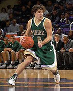 William & Mary guard David Schneider brings the ball up court against Kansas State at Bramlage Coliseum in Manhattan, Kansas, November 11, 2006.  K-State defeated the Tribe 70-60.<br />