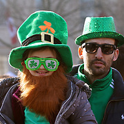 Thousands attends the St Patrick's Day festival and Parade in London set to go green for another world-class 2016 on 13th March 2016 in Trafalgar Square, London, England,UK. Photo by © 2016