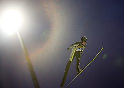 Lukas Hlava (CZE) competes during First round of the FIS Ski Jumping World Cup event of the 58th Four Hills ski jumping tournament, on January 6, 2010 in Bischofshofen, Austria. (Photo by Vid Ponikvar / Sportida)