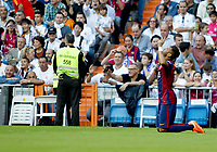 """Spanish  League""- match Real Madrid Vs FC Barcelona- season 2014-15 - Santiago Bernabeu Stadium - Neymar (FC Barcelona) Celebrates a goal during the Spanish League match against Real Madrid(Photo: Guillermo Martinez / Bohza Press / Alter Photos)"