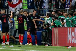 July 11, 2018 - Moscow, Vazio, Russia - Mario MANDZUKIC of Croatia scores goal during England-Croatia match valid for the semi-final of the 2018 World Cup, held at Lujniki Stadium in Moscow, Russia. Croatia wins 2-1. (Credit Image: © Thiago Bernardes/Pacific Press via ZUMA Wire)