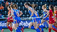 AMSTELVEEN -  Felice Albers (Ned) heeft gescoord,  tijdens dames hockeywedstrijd , Spanje-Nederland  (1-7),  bij het EK hockey. Euro Hockey 2021.   COPYRIGHT KOEN SUYK