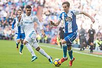 Real Madrid Carlos Henrique Casemiro and R.C. Deportivo Pedro Mosquera during La Liga match between Real Madrid and R. C. Deportivo at Santiago Bernabeu Stadium in Madrid, Spain. January 18, 2018. (ALTERPHOTOS/Borja B.Hojas)