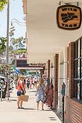 Shopping Downtown Laguna Beach During Summer