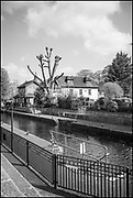 Maidenhead, Berkshire, United Kingdom, Wednesday, 21/04/2021, General View,  Boulters Lock, Ray Mill Island,  River Thames, Thames Valley, [Mandatory Credit; Pete Spurrier],