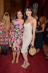 Left to right, MIRIAM CLEGG and DAISY LOWE at the LDNY Fashion Show and WIE Award Gala sponsored by Maserati held at The Goldsmith's Hall, Foster Lane, City of London on 27th April 2015.