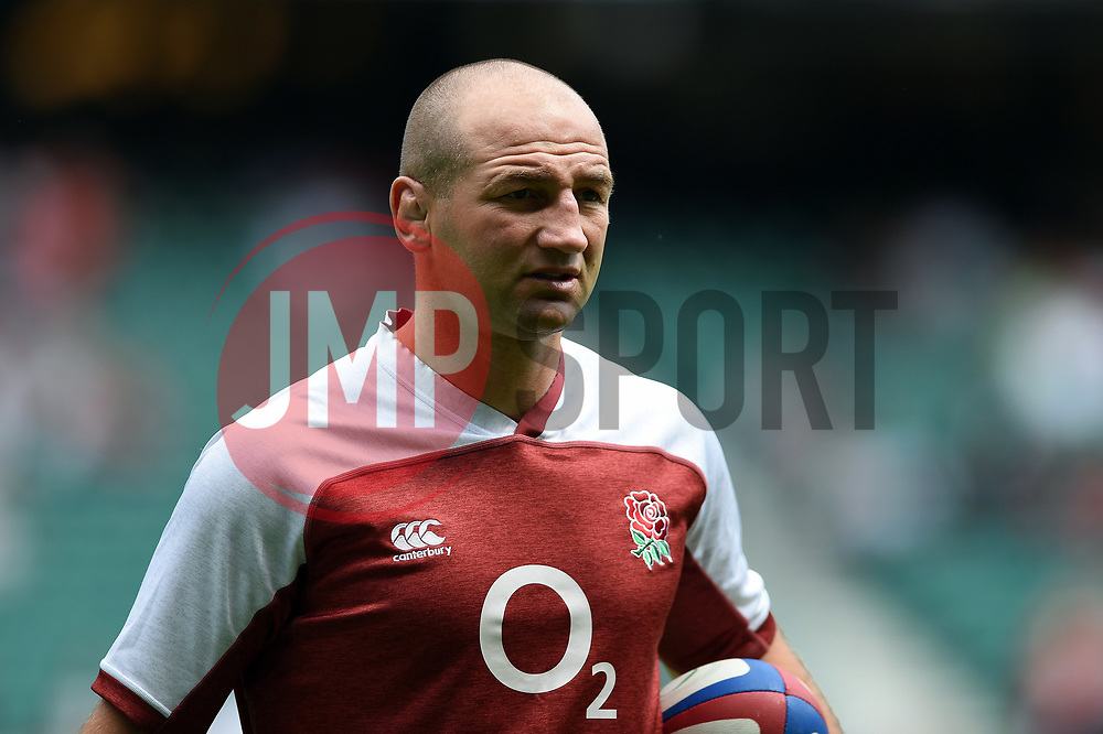 England Rugby Assistant Coach Steve Borthwick looks on during the pre-match warm-up - Mandatory byline: Patrick Khachfe/JMP - 07966 386802 - 11/08/2019 - RUGBY UNION - Twickenham Stadium - London, England - England v Wales - Quilter International