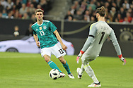 Thomas Muller (Germany) and David De Gea (Spain) during the International Friendly Game football match between Germany and Spain on march 23, 2018 at Esprit-Arena in Dusseldorf, Germany - Photo Laurent Lairys / ProSportsImages / DPPI