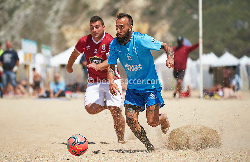 NAZARE, PORTUGAL - JULY 14: Euro Winners Cup at Estadio do Viveiro on July 14, 2021 in Nazare, Portugal. (Photo by Manuel Queimadelos / Beach Soccer)
