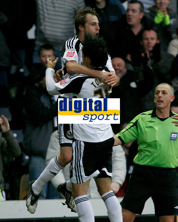 Photo: Steve Bond/Richard Lane Photography. Derby County v Crystal Palace. Coca Cola Championship. 06/12/2008. Luke Varney (L) celebrates his equaliser