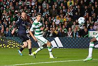 19/08/15 UEFA CHAMPIONS LEAGUE PLAY-OFF 1ST LEG<br /> CELTIC V MALMO<br /> CELTIC PARK - GLASGOW<br /> Jo Inge Berget pulls a goal back for Malmo.
