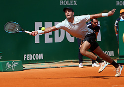 April 18, 2018 - Liege, Monaco - Tennis - ATP- Monaco - Monte Carlo, Monte  Carlo country club, Rolex Monte - Carlo Masters 2018, 18 avril 2018..Le joueur croate Borna Coric (CRO) photographie lors de son match de deuxieme tour  contre le serbe Novak Djokovic (SRB) au Monte Carlo country club de Monaco à l'occasion du Rolex Monte Carlo masters 2018 (Credit Image: © Panoramic via ZUMA Press)