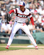 CHICAGO - MAY 05:  Aaron Bummer #39 of the Chicago White Sox pitches against the Boston Red Sox on May 5, 2019 at Guaranteed Rate Field in Chicago, Illinois.  (Photo by Ron Vesely)  Subject:  Aaron Bummer