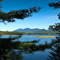 Flagstaff Lake with Mt. Bigelow in the background.  Image was taken from the Cathedral Pines Campground.