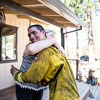 Sutter Amador emergency department nurse Janice (last name) and her husband Scott photographed Thursday, September 24, 2015 on their property in rural Calavaras County. The couple were evacuated from thier home during the recent Butte Fire. Janice's coworkers rallied around her and others effected by the massive blaze, giving time, money, and emotional support.
