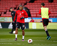 Leon Clarke of Sheffield Utd warms up during the English League One match at Bramall Lane Stadium, Sheffield. Picture date: April 5th 2017. Pic credit should read: Simon Bellis/Sportimage