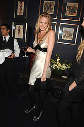 EUGENIE WARRE at a party to celebrate the publication of the 2007 Tatler Little Black Book held at Tramp, 40 Jermyn Street, London on 7th November 2007.<br />