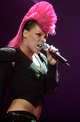 Pink performs live on stage at the Hallam FM Arena Sheffield England on her 'Try This Tour'<br />