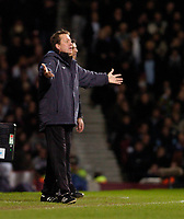 Photo: Leigh Quinnell.<br /> West Ham United v Fulham. The Barclays Premiership. 13/01/2007. West Ham boss Alan Curbishley asks what the problem is.