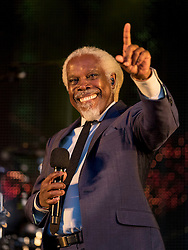 Billy Ocean headlining at Party At The Palace Music Festival in Linlithgow Palace grounds on Sunday 14th August 2016.<br /> <br /> Alan Rennie/ EEm