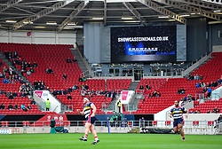 Large screen at Ashton Gate Stadium  - Mandatory by-line: Paul Knight/JMP - 03/09/2017 - RUGBY - Ashton Gate Stadium - Bristol, England - Bristol Rugby v Hartpury - Greene King IPA Championship