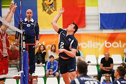20170524 NED: 2018 FIVB Volleyball World Championship qualification, Koog aan de Zaan<br />Mitar Tzourits (2) of Greece <br />©2017-FotoHoogendoorn.nl / Pim Waslander