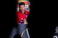 Atletico de Madrid coach Diego Simeone during press conference the day before Europa League match between Atletico de Madrid and Sporting de Lisboa at Wanda Metropolitano in Madrid, Spain. April 04, 2018. (ALTERPHOTOS/Borja B.Hojas)