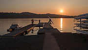 Varese. Lombardia. ITALY. General View.  Sun Set, Crewsreturning from afternoon Training on Lake/Lago Varies. [Varese Rowing Club]. [Canottieri Varese]<br /> <br /> Tuesday  03/01/2017<br /> <br /> [Mandatory Credit; Peter Spurrier/Intersport-images]<br /> <br /> <br /> LEICA CAMERA AG - LEICA Q (Typ 116) - 1/4000 - f2.8 , Atmospheric, mist, fog, Sunrise, Sunset, Blue Hour,