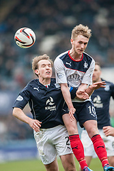 Dundee's Gary Irvine and Falkirk's Craig Sibbald. Dundee 0 v 1 Falkirk, Scottish Championship game played today at Dundee's Dens Park.<br /> © Michael Schofield.