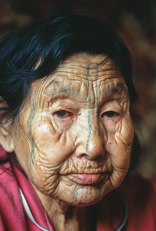 Unga Tepekak, Yupik elder, Village of Sireniki, Chukotsk Peninsula, Northeast Russia