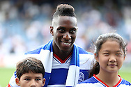 QPR new signing Yeni Ngbakoto poses for a photography before k/o. Skybet EFL championship match, Queens Park Rangers v Leeds United at Loftus Road Stadium in London on Sunday 7th August 2016.<br /> pic by John Patrick Fletcher, Andrew Orchard sports photography.