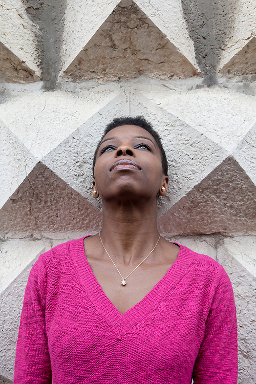 """Ferrara, Italy, October 5, 2013. Noo Saro-Wiwa, Nigerian writer. Her debut book """"Looking for Transwonderland"""" (Granta, 2012) is the story of her journey to Nigeria after many years of absence. Ms. Saro-Wiwa left Nigeria due to the assassination of her father, Ken Saro-Wiwa, a writer and activist who was arrested and condemned to death by a military court because of his fight against environmental damages caused by Shell in Nigeria. Since 1958 the Shell company has been extracting oil from the delta of the Niger river. 'Looking for Transwonderland' in 2012 was named the Sunday Times travel book of the year and was named by The Guardian as one of the ten best books on Africa. Ms. Saro-Wiwa lives in London."""