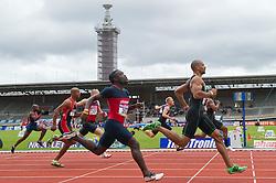 30-07-2011 ATLETIEK: NK OUTDOOR: AMSTERDAM<br /> (L-R) Jerrel Feller, Patrick van Luijk series 100 meter mannen<br /> ©2011-FotoHoogendoorn.nl / Peter Schalk