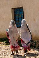 Women wearing netela (scarf-like cloth), Axum (Aksum), Ethiopia.