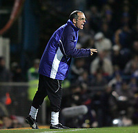 Photo: Lee Earle.<br /> Portsmouth v Chelsea. The Barclays Premiership.<br /> 26/11/2005. Portsmouth's caretaker boss Joe Jordan shouts his instructions.