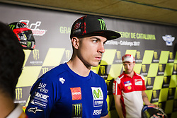 June 8, 2017 - Barcelona, Spain - MotoGP, Maverick Vinales (Spa), Movistar Yamaha Motogp Team during the press conference of MotoGp Grand Prix Monster Energy of Catalunya, in Barcelona-Catalunya Circuit, Barcelona on 8th June 2017 in Barcelona, Spain. (Credit Image: © Urbanandsport/NurPhoto via ZUMA Press)