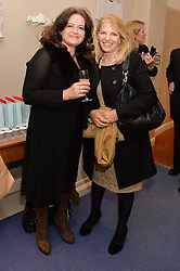 Left to right, MARIKA BRENNAN and LINDY BROCKWAY at a preview of the latest collections by jewellery designer Kiki Mcdonough and fashion label Beulah held at Kiki McDonough Jewellery, 12 Symons Street, London on 5th March 2014.
