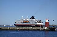 "The Hurtigruten ship  ""MS Richard With"" departs Ålesund, Norway, on May 15, 2013.  (© 2013 Cindi Christie)"
