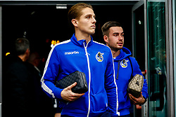 Tom Nichols of Bristol Rovers and Michael Kelly of Bristol Rovers arrives at PTS Academy Stadium prior to kick off - Mandatory by-line: Ryan Hiscott/JMP - 08/01/2019 - FOOTBALL - PTS Academy Stadium - Northampton, England - Northampton Town v Bristol Rovers - Checkatrade Trophy