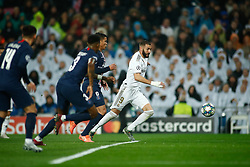 November 26, 2019, Madrid, MADRID, SPAIN: Karim Benzema of Real Madrid during the UEFA Champions League football match, Group A, played between Real Madrid and Paris Saint-Germain at Santiago Bernabéu Stadium on November 26, 2019, in Madrid, Spain. (Credit Image: © AFP7 via ZUMA Wire)