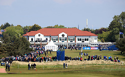 General view of the clubhouse during day three of the Betfred British Masters at Hillside Golf Club, Southport.