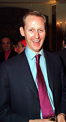 Diarist TIM WALKER, at a party in London on 27th January 2000.<br /> OAL 53 MO