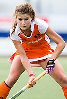 DEN BOSCH -  Roos Dros van Nederland tijdens de wedstrijd tussen de vrouwen van Jong Oranje  en Jong Wit-Rusland (15-0), tijdens het Europees Kampioenschap Hockey -21. ANP KOEN SUYK
