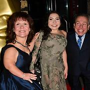 Samantha Davis, Annabelle Davis and Warwick Davis arrivers at the BAFTA Children's Awards 2018 at Roundhouse on 25 November 2018, London, UK.